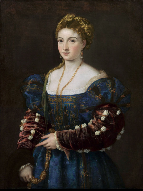 La Bella (Woman in a Blue Dress) Titian (Tiziano Vecellio) c. 1536